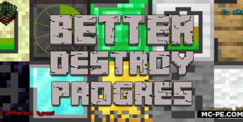 Улучшенная анимация разрушения блока [1.16] [1.15] [1.14] (Better Destroy Progress)