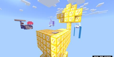 Cкайблок: Острова с лаки блоками [1.16] (Lucky Islands)