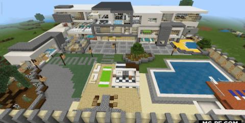 Черно-белый богатый дом [1.16] (Black & White Luxury House)