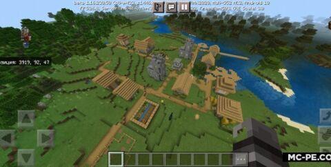 Сид на 4 Биома, 2 деревни и храм [1.16]