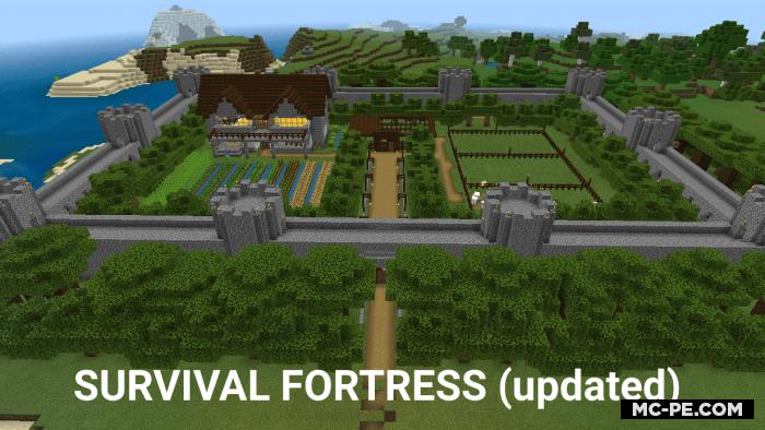 Крепость для выживания в Майнкрафт ПЕ [1.16] (Survival Fortress)