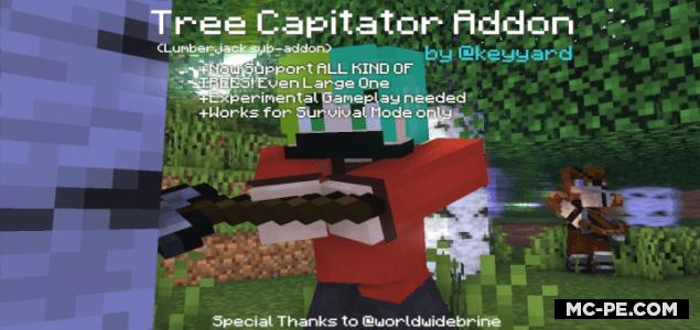 TreeCapitator [1.16] [1.14] (мод на рубку деревьев)